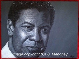 """DENZEL - painted as a gift for my mums birthday this coming December, acrylic on 12"""" x 9"""" box canvas (OCT 2013) SOLD"""