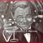 "GATSBY - standard b&w acyrlic on 18"" x 14"" box canvas, Leonardo Di Caprio in iconic scene from ""The Great Gatsby"" (JAN 2014)"