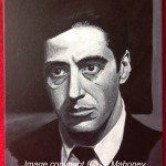 "MICHAEL CORLEONE - Al Pacino in The Godfather (Part One), acrylic on 16"" x 12"" box canvas (JUNE 2013)"