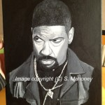 "MY NIGGA - Denzel Washington as Agent Alonzo in the film ""Training Day"" acrylic on 14"" x 11"" box canvas (MAY 2013) SOLD"