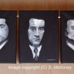 "WISEGUYS - Goodfellas Ray Liotta, Robert De Niro and Joe Pesci, my second commissioned piece, acrylic three piece 14"" x 11"" box canvas (MAY 2013) SOLD"