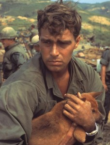 Vietnam Soldier and dog