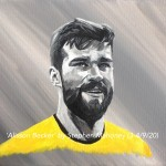 "ALISSON BECKER - 12x9"" stretched canvas painted in acrylics (SEPT 2020)"
