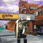 "BANE'S BREWERY PILLAGE - the seventh and final ""fake news"" piece in the 'Scouse Superhero Scandal Series', featuring Bane from Batman 'The Dark Knight Rises' taking over Cain's Brewery Village in Liverpool. Done on a 12x9"" canvas in acrylics, taking 10hrs overall (SEPT 2018)"