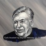 "CARLO ANCELOTTI - 12x9"" stretched canvas painted in acrylics (SEPT 2020)"