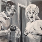 "CARRY ON - another British Classic Comedy piece, this time featuring Sid and Babs in 'Carry On Abroad'. Acrylic painting on 18x14"" box canvas (MAY '17) £179.00 at Galleria, Rainhill"