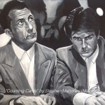 "COUNTING CARDS - great scene from ""Rainman"" at the casino, featuring Dustin Hoffman and Tom Cruise. Done on 18x14"" box canvas in acrylics (MAY '16) £149.00 - email for details"