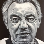 "THE TROPHY WINNERS (FAGAN) - one of eight 12x9"" canvases painted in acrylics to celebrate LFC's rich history and to emphasise that success in football is measured in silverware and not money. Joe Fagan took roughly 8hrs to complete (APR-JUNE 2017)"