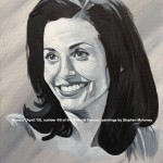 "FRIENDS FOREVER - MONICA - celebrating 25 years since the classic US sit-com first aired, this is one of six 'Friends' painted in acrylics on a 12x9"" canvas (APRIL 2019)"