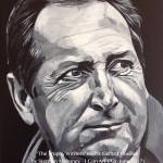 "THE TROPHY WINNERS (HOULLIER) - one of eight 12x9"" canvases painted in acrylics to celebrate LFC's rich history and to emphasise that success in football is measured in silverware and not money. Gerar Houllier took roughly 8hrs to complete (APR-JUNE 2017)"