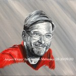 "JURGEN KLOPP - 12x9"" stretched canvas painted in acrylics (SEPT 2020)"
