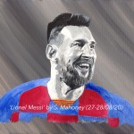 "LIONEL MESSI - 12x9"" stretched canvas painted in acrylics (AUG 2020)"