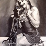 "LOVE AND TATE - done from a nice picture from a photoshoot of UFC fighter Miesha Tate, on small 12x9"" box canvas in acrylics (MAR '16) £79.00 on Etsy"