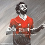 "MO SALAH - Liverpool's premier league record goal scorer during his first season at the club. Painted in acrylics on a 12x9"" stretched canvas (APR '18) SOLD at Liverpool Gift Gallery in May '18."