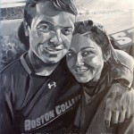 "PATRICK AND DANIELLE - a 12x9"" commission sent to the USA as a special anniversary present (FEB '18) SOLD"