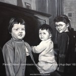"PIANO CHILDREN - a commission painting a photo taken in the 1960's, done in acrylics on an 18x14"" canvas and taking roughly 23hrs overall (SEPT '18) SOLD"