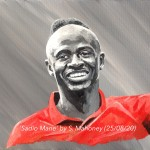 "SADIO MANE - 12x9"" stretched canvas painted in acrylics (AUG 2020)"