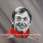 "SIR KENNY DALGLISH - 12x9"" stretched canvas painted in acrylics (SEPT 2020)"