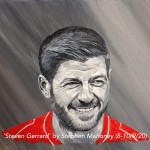 "STEVEN GERRARD - 12x9"" stretched canvas painted in acrylics (SEPT 2020)"