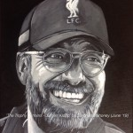 "THE TROPHY WINNERS - JURGEN KLOPP - 12x9"" canvas in acrylics, new addition to the original 8 trophy winners painted in 2017 (JUNE 2019)"